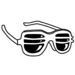 Superfein party sunglasses logo